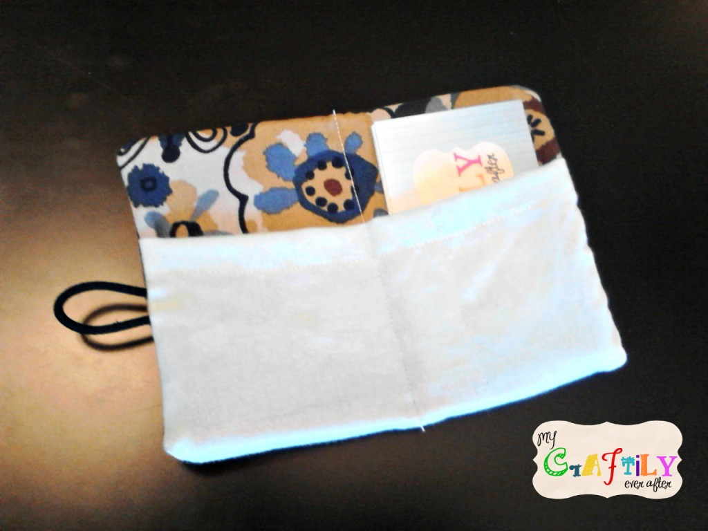 Fabric Business Card Holder Open