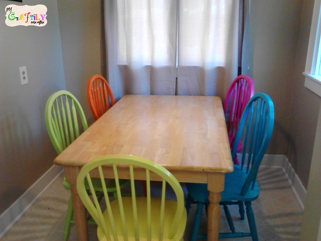fiesta chairs at dining room table