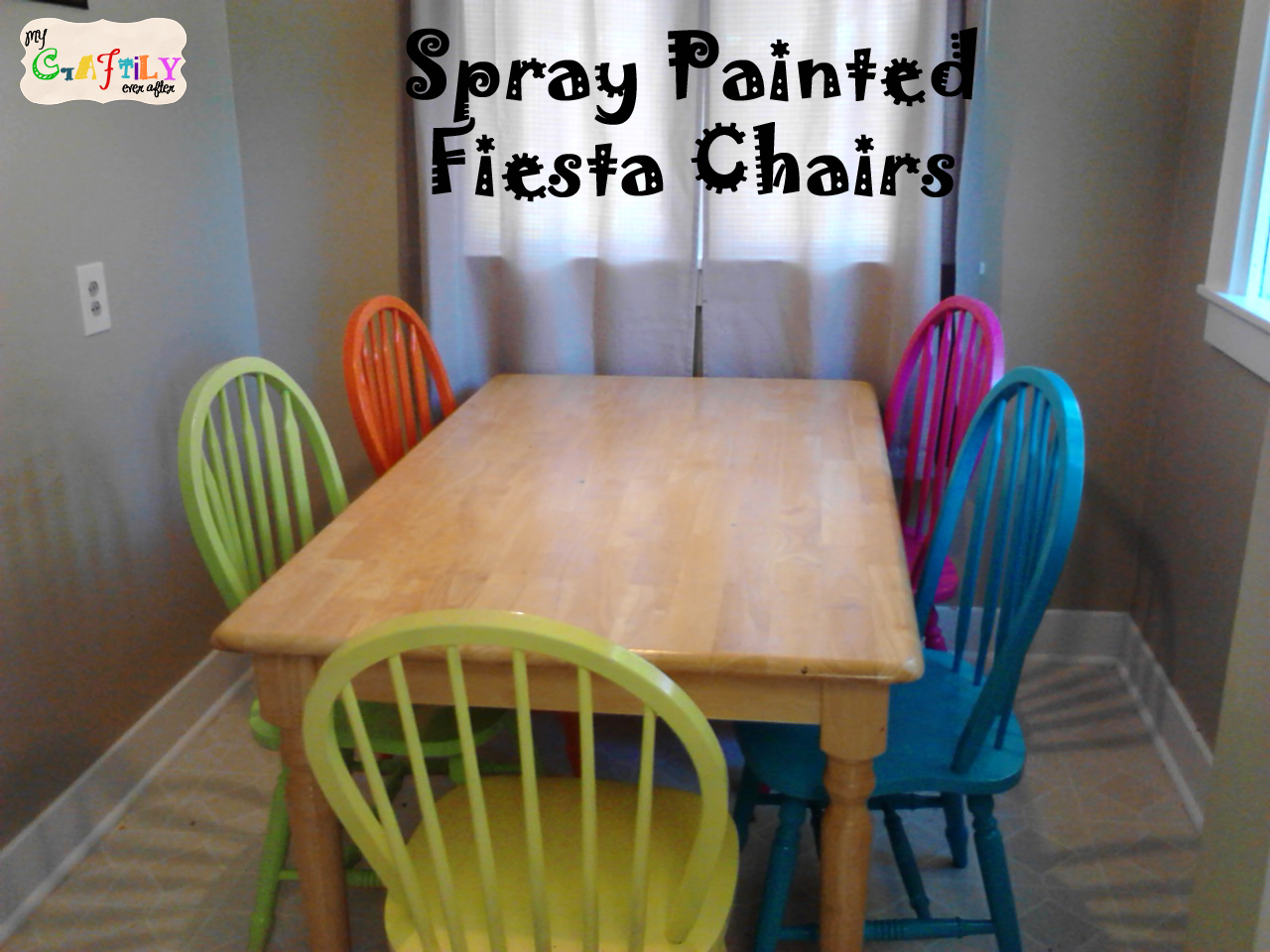 Spray Painted Fiesta Chairs for the Dining Room Table - My Craftily ...