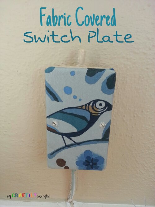 Mod Podged Fabric Covered Switch Plate