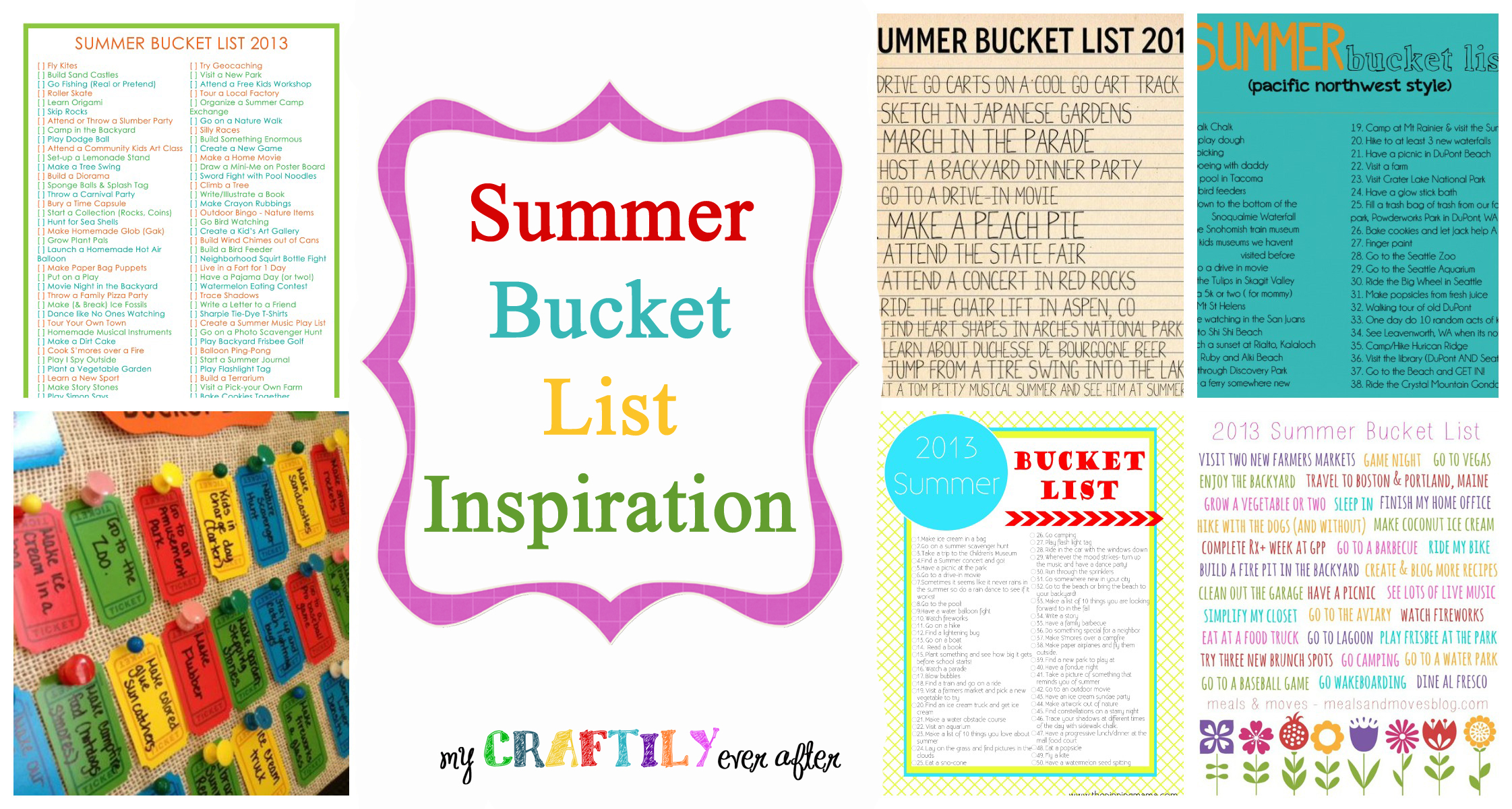 Inspiration For A Summer Bucket List My Craftily Ever After