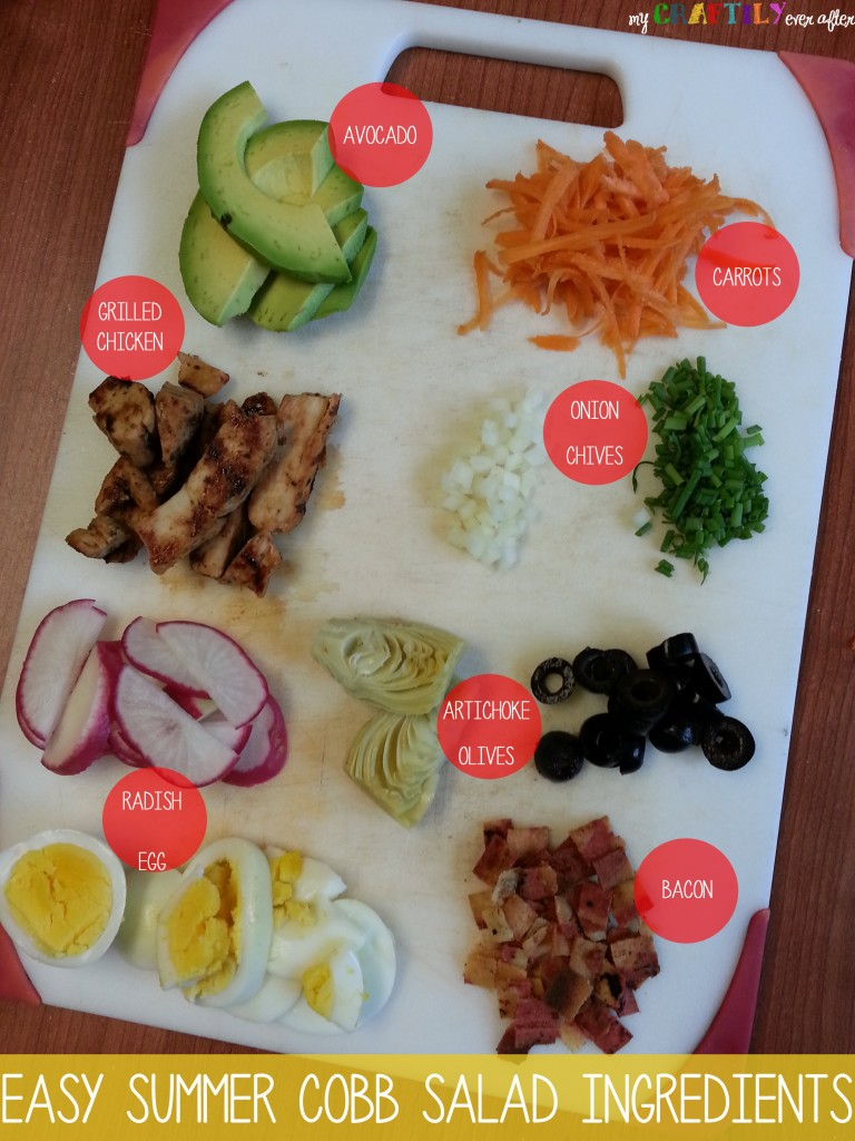 easy summer cobb salad ingredients