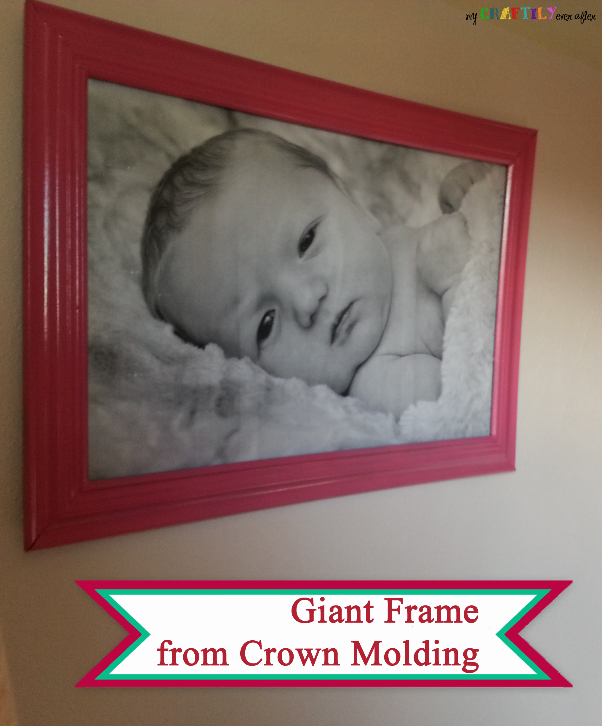 Giant Photo with Crown Molding Fame - My Craftily Ever After