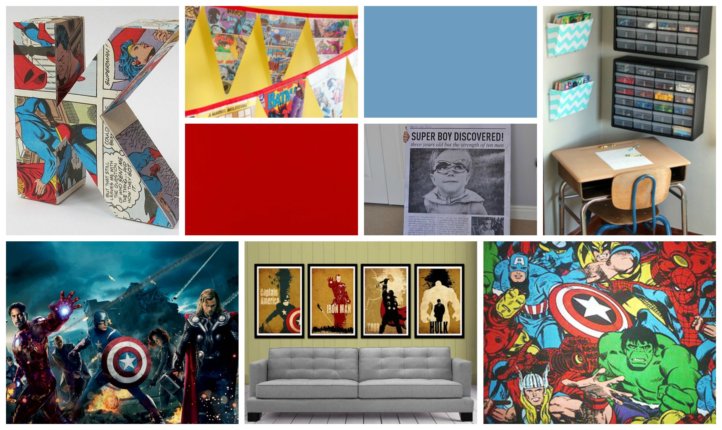Creating an avengers bedroom my craftily ever after - Avengers room decor ideas ...