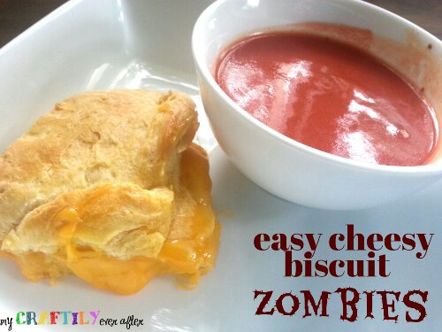 easy cheesy biscuit zombies