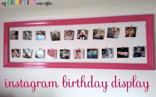 instagram birthday photo display