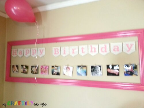 instagram photo display for a birthday party
