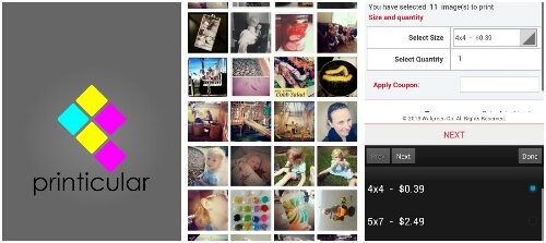 it's easy to use printicular to print off all your instagram photos!