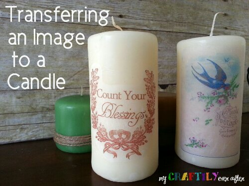 Transferring an Image to a Candle - Easy Gift Series