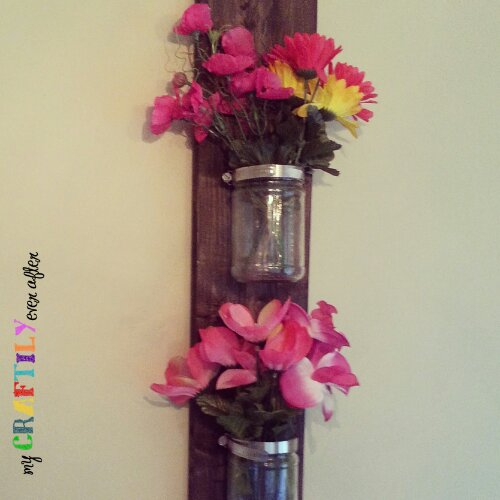 recycled jars wall vase - easy gift series