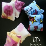 These DIY hand warmers make the perfect stocking stuffer!  Learn how at My Craftily Ever After