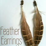 Quick and easy feather earrings are the perfect gift for the hard to shop for woman in your life.  They make great birthday, Christmas and just because gifts!  Learn how at My Craftily Ever After