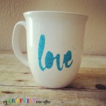 Need an easy gift for the hard to shop for person in your life?  Create this amazing glitter mug and personalize it with any saying you want.  Learn how at My Craftily Ever After