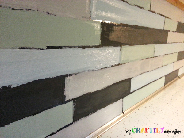 painted backsplash in progress