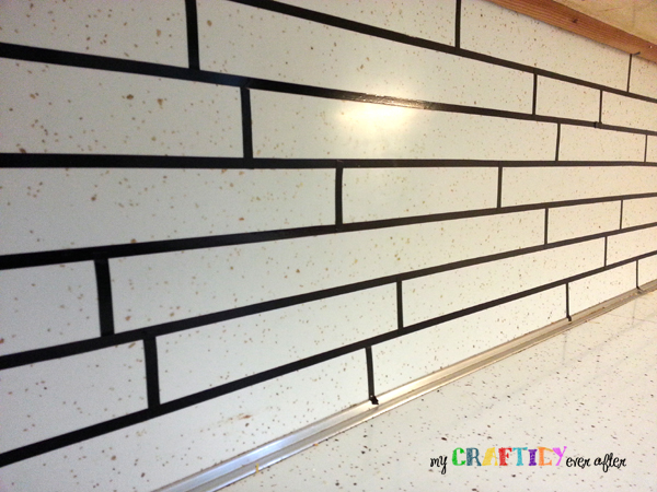 painted backsplash taping vertical