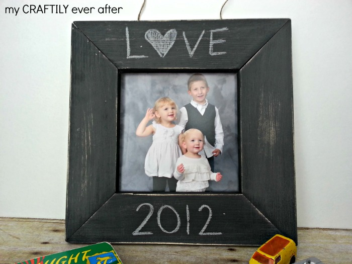 chalkboard frame knock off
