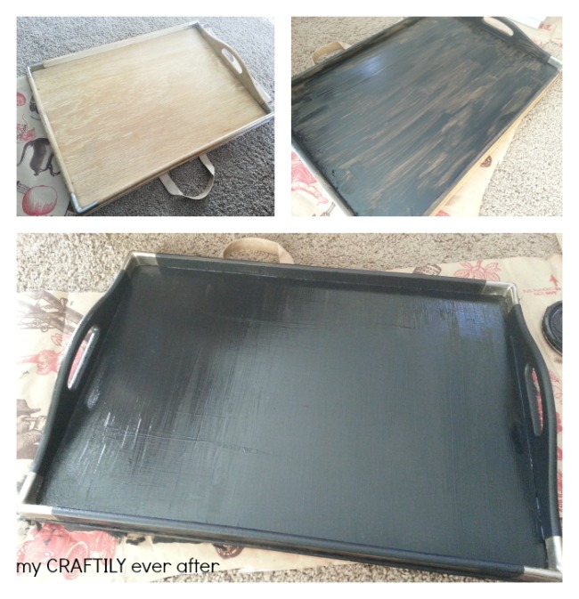 chalkboard tray painting