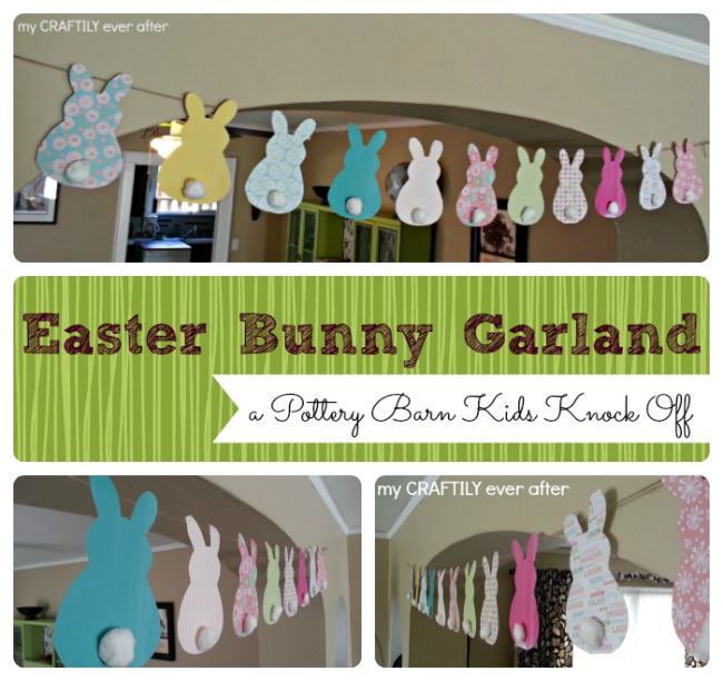 easter bunny garland - pbk knock off