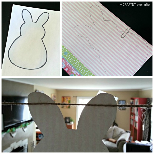 how to make an easter bunny garland