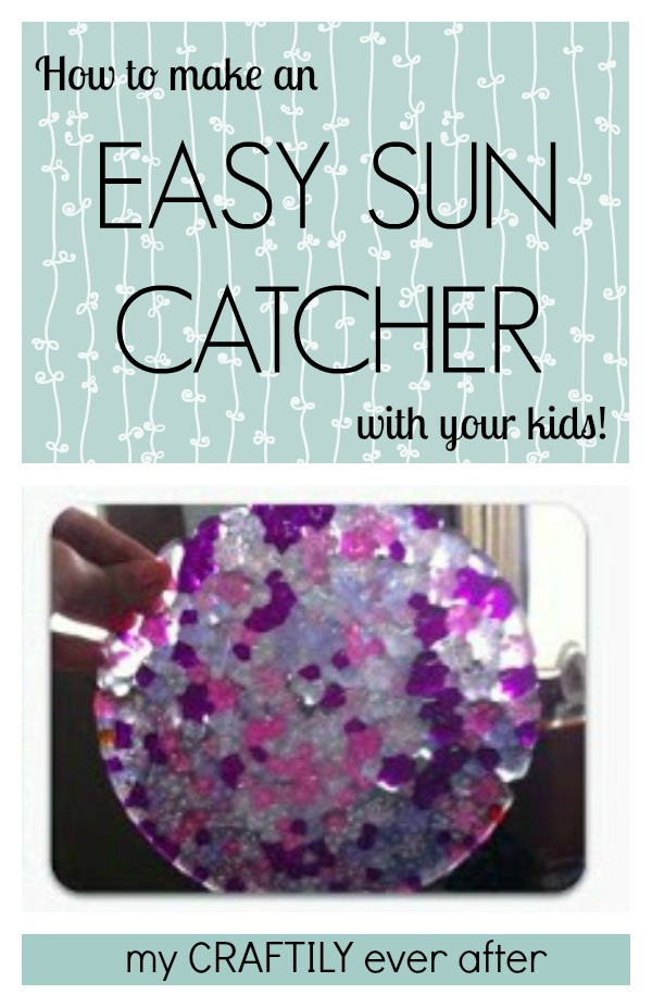 how to make an easy sun catcher with your kids