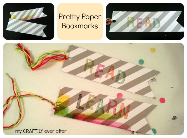 pretty paper bookmark