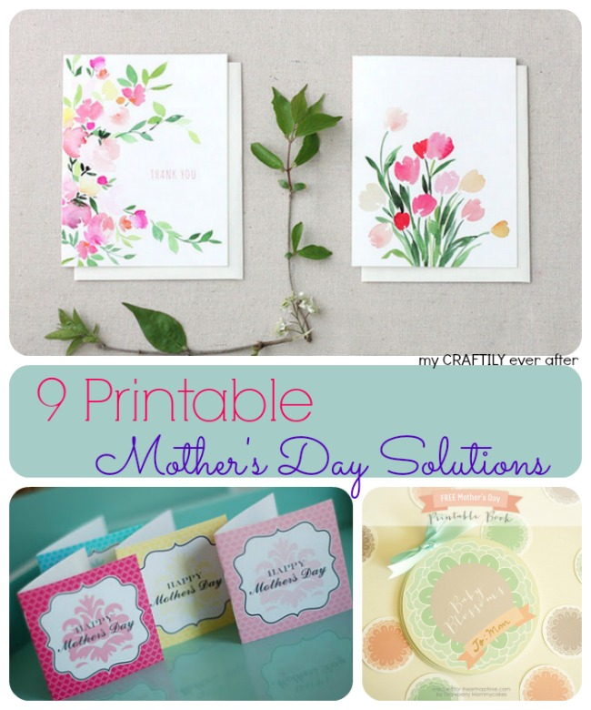 9 printable mother's day solutions