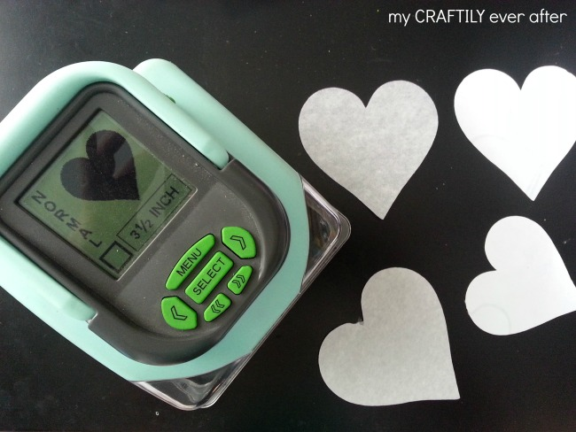 cutting out hearts with a SLICE machine
