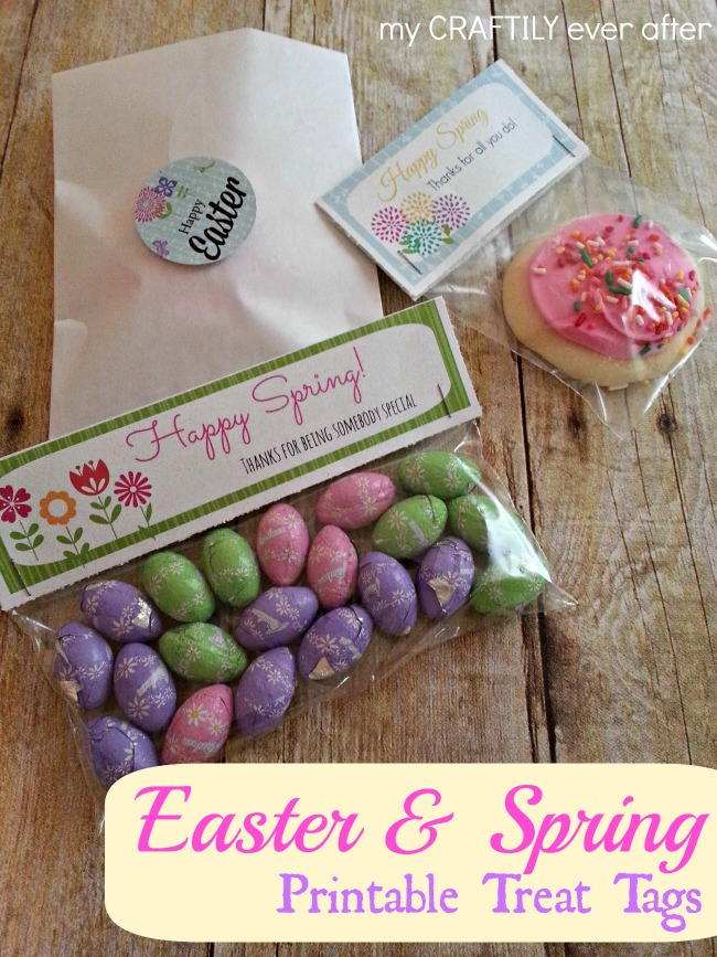 easter and spring printable treat tags