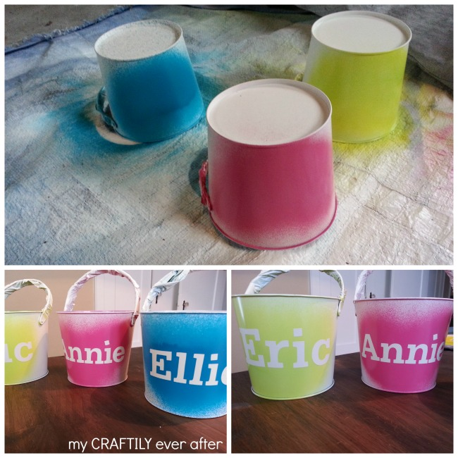 easter buckets painting and lettering