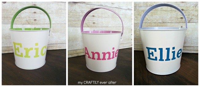 easter buckets - pottery barn knock off
