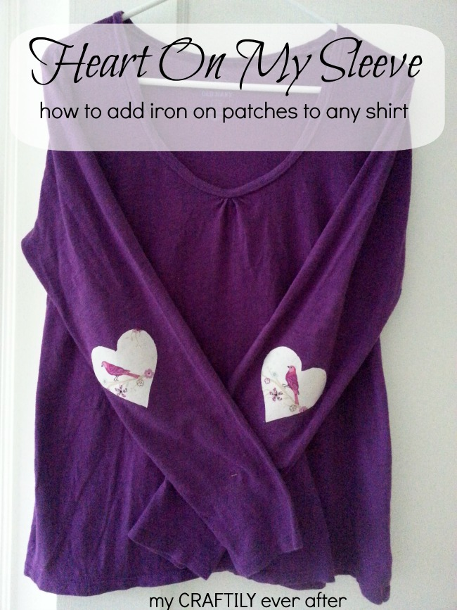 heart on my sleeve - how to add iron on patches to any shirt