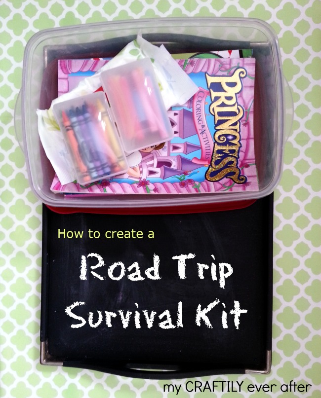 Learn how to make a road trip survival kit with My Craftily Ever After