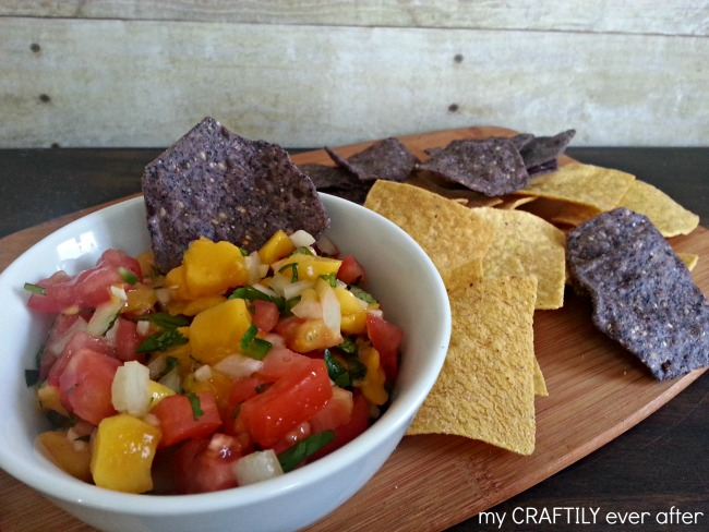mango salsa and chips