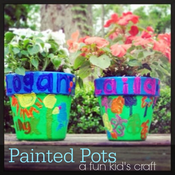 painted pots- a fun kids craft