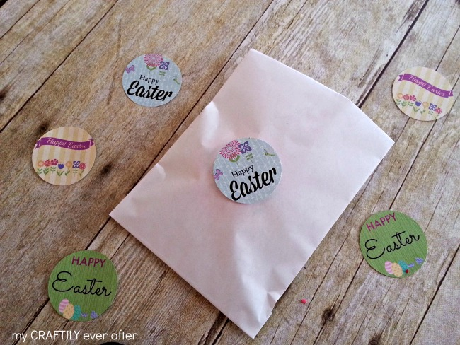 round easter printable gift tags