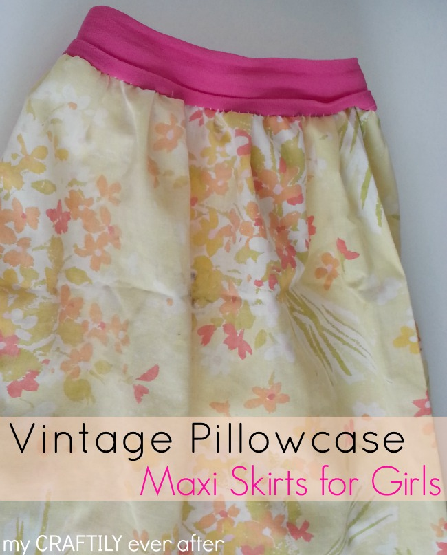vintage pillowcase maxi skirts for girls