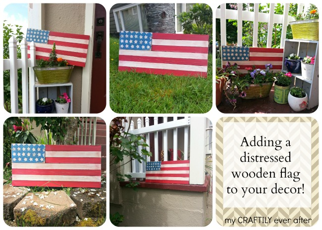 adding a distressed wooden flag to your decor