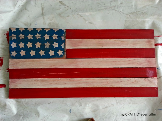 distressed flag