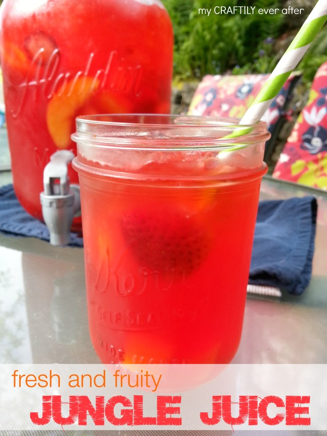 Fresh and Fruity Jungle Juice Drink using Kool-Aid