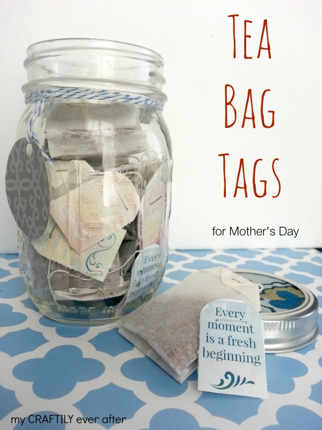 photo relating to Head in a Jar Printable called Printable Tea Bag Tags for Moms Working day - My Craftily At any time Just after