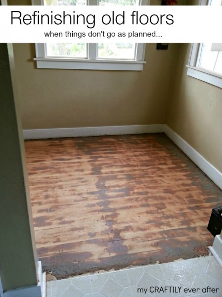 refinishing floors when things don't go as planned