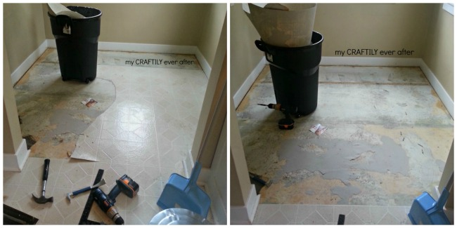 removing linoleum floors from a ktichen