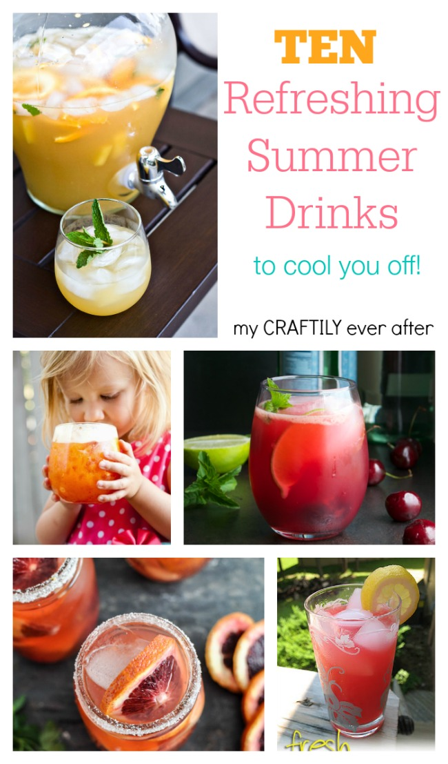 Ten refreshing drinks to cool you off this summer from My Craftily Ever After