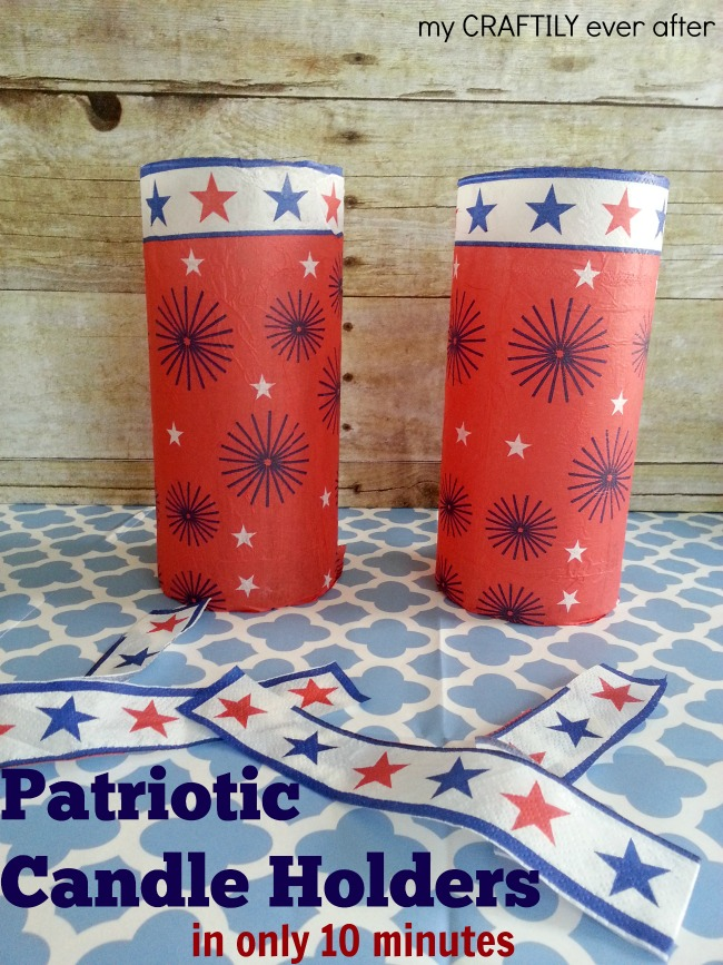 10 minute patriotic candle holders