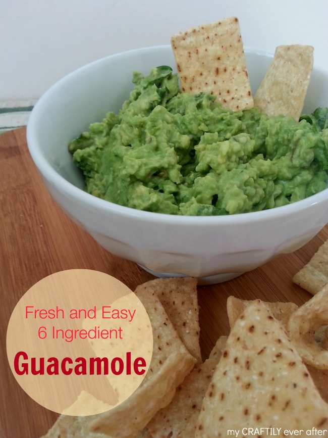 6 Ingredient Basic Guacamole Recipe!