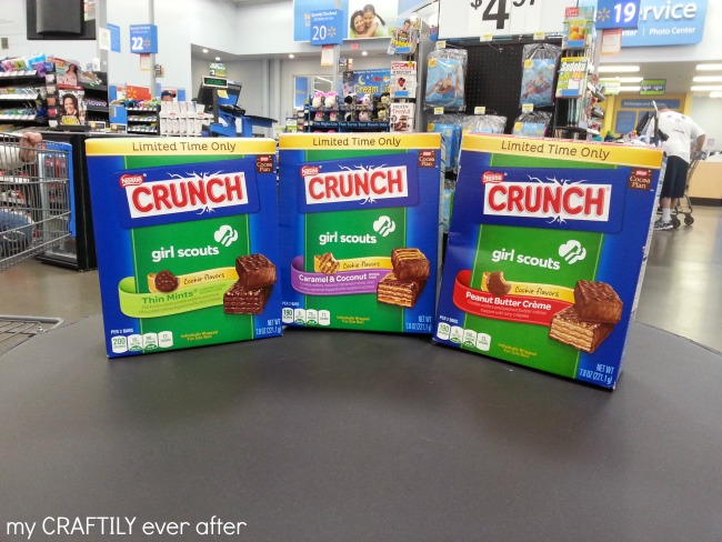 nestle crunch girls scout cookie bars at walmart #shop