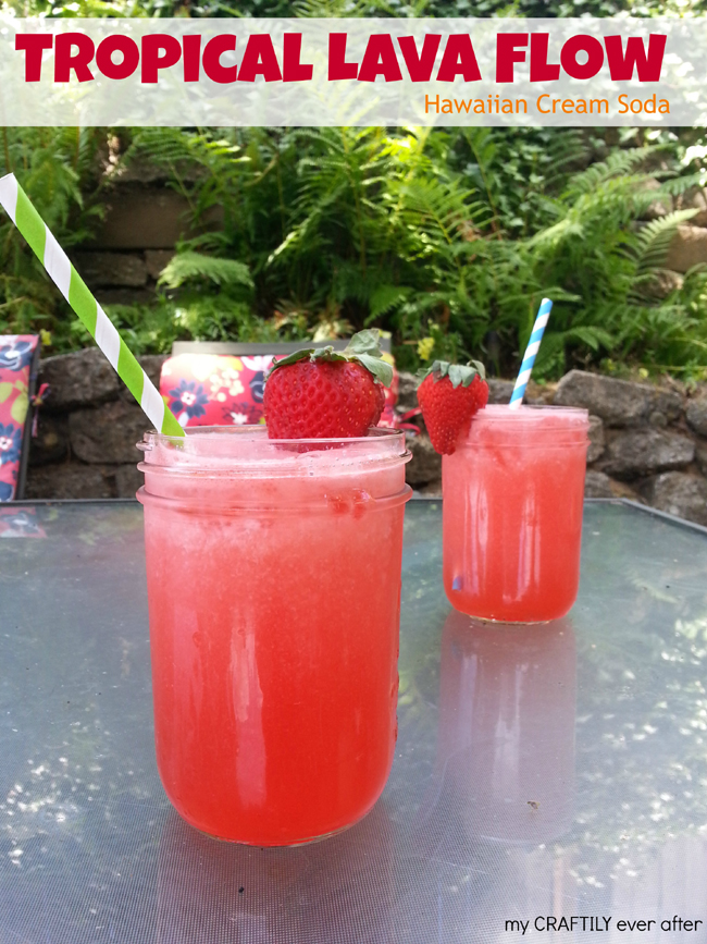 tropical lava flow hawaiian soda
