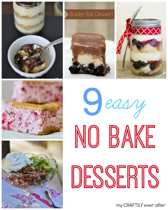 9 easy no bake desserts