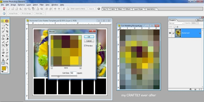 creating a color palette in photoshop step 2 and a half