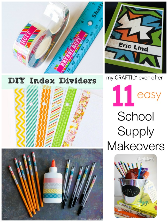 11 easy school supply makeovers